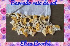 BARRADO RAIO DE SOL EM CROCHÊ # Elisa Crochê