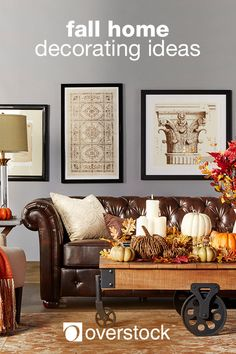 Say goodbye to summer and welcome the fall season. Bring the rich colors of autumn into your home and embrace this beautiful time of year. Transform your living room, dining room, mantel, or front porch into a fall retreat your family will love with our Fall Decorating Ideas guide. Here we've gathered the classic fall decorating essentials you need to celebrate the official start of sweater season. Shop Fall décor and more at Overstock.com.