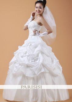 Aline de satén del vestido de boda del cinturón ,€42