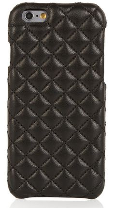 Stylish tech gifts for women: quilted leather iPhone case