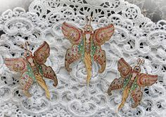 New Item Listing~Reneabouquets Original Butterfly Set - Genie Bottle Butterflies, Scrapbook Embellishment,  Wedding, Home Decor, Party Decoration  Shop here: http://www.Reneabouquets.com (use coupon Code: RENEABOUQUETS to take 10% off website order only).  or shop here:  http://www.Etsy.com/shop/Reneabouquets