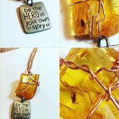 Shop for necklace on Etsy, the place to express your creativity through the buying and selling of handmade and vintage goods. Amber Fossils, Dog Tag Necklace, My Etsy Shop, Unique Jewelry, Pendant, Handmade Gifts, Accessories, Hand Made Gifts, Pendants