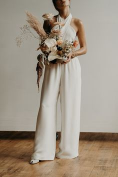 Sarah jumpsuit | Lena Medoyeff Studio | Bridal | Portland, Oregon | Photography by Benjamin Holtrop
