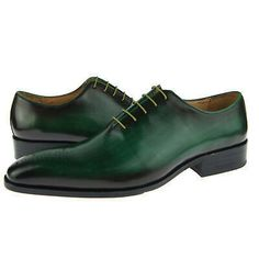 Genuine Leather Burnished Green Tone Oxford Made To Order Black Sole Laceup Shoe sold by Leather Art Shop more products from Leather Art 2020 on Storenvy, the home of independent small businesses all over the world. Handmade Leather Shoes, Suede Leather Shoes, Leather Men, Cowboy Shoes, Formal Shoes, Formal Dress, Custom Design Shoes, High Ankle Boots, Lace Up Shoes
