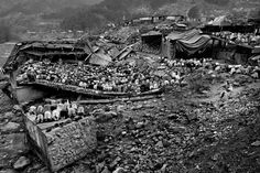 Worshippers attend Friday prayers at a collapsed mosque that was destroyed in the 2005 Kashmir earthquake, in Balakot, Pakistan.