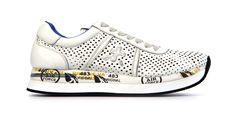 Premiata - Van den Assem Schoenen #newarrival #puma #ss15 http://www.assem.nl/schoenen/damesschoenen/sneakers/premiata/wit/conny-laser/1930.50.107566/