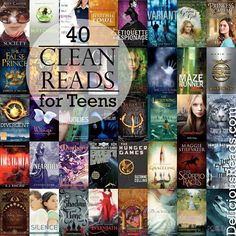 40 Clean Reads for Teens from Delicious Reads (by Robin King). Robin-approved books for any teenager with 40 Clean Reads for Teens from Delicious Reads (by Robin King). Robin-approved books for any teenager with a PG-like rating. Books For Boys, Ya Books, Library Books, I Love Books, Good Books, Best Teen Books, Classic Books For Teens, Teenage Books To Read, Books To Read In Your Teens