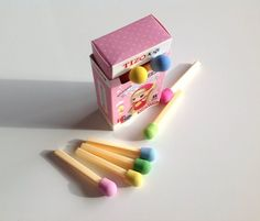 Bah! So in love with these! Kawaii Eraser Match Box Erasers Kawaii Stationary Blog