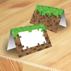 Minecraft Food Tent Cards, Food Labels, Minecraft Party, Printable