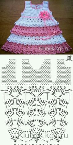 Captivating Crochet a Bodycon Dress Top Ideas. Dazzling Crochet a Bodycon Dress Top Ideas. Crochet Baby Dress Pattern, Baby Girl Crochet, Crochet Baby Clothes, Baby Knitting Patterns, Baby Patterns, Knit Crochet, Crochet Patterns, Crochet Hats, Crochet Designs