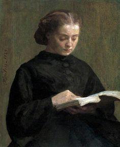 henri fantin-latour(1836–1904), mademoiselle marie fantin-latour, 1859. oil on canvas, 85.5 x 60.5 cm. birmingham museums trust  http://www.bbc.co.uk/arts/yourpaintings/paintings/mademoiselle-marie-fantin-latour-33737