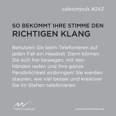 #salesimpuls #243 - Benutzen Sie beim Telefonieren auf jeden Fall ein Headset. www.martinlimbeck.de