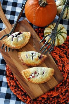 Great Halloween Food Ideas...I'll bring these scary pies...