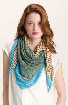 In search of the perfect square scarf for the summer | Tarnish 'Bright' Scarf available at Nordstrom