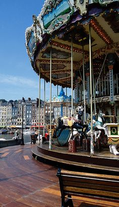 Honfleur, carousel on the harbor