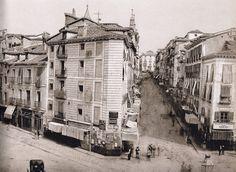 Puerta del Sol  durante el inicio de los derribos previos a la reforma (detalle), 1857 Ch.Clifford. Museo Municipal de Madrid