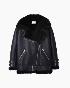 ACNE STUDIOS | Velocite Oversized Shearling Jacket | Shop @ La Garçonne