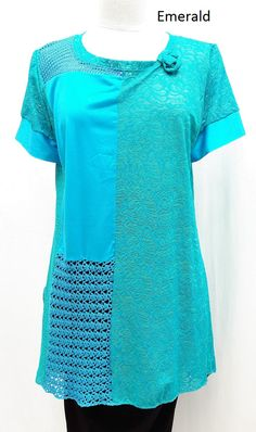 composition tunic, knit, lace cotton... www.msemmadesigns