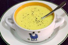 Salsa de mango y yogur. Receta sencilla de salsa ideal para acompañar pescados y mariscos. Con fotos paso a paso de su elaboración