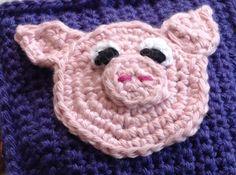 Billede af en hæklet gris