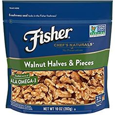 Fisher Walnut Halves & Pieces, No Preservatives, Non GMO, Naturally Gluten Free 16 oz Fisher, Raw Nuts, Coffee Cake, Preserves, Dog Food Recipes, Bread Recipes, Gluten Free, Breakfast, Walmart