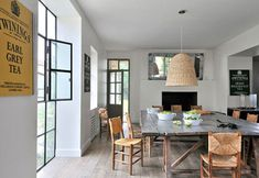 Sarah Lavoine / Cote Maison via Style Files {rustic vintage modern dining room}