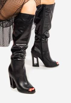 Cizme cu toc Sorrento Negre Sorrento, Knee Boots, Heels, Fashion, Heel, Moda, Fashion Styles, Knee Boot, High Heel