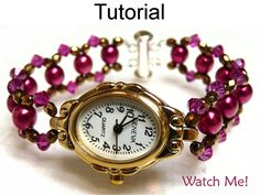 Beading Tutorial Pattern Watch Bracelet  by SimpleBeadPatterns