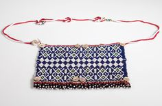 Africa | Loveletter from the Gingo people of Hoisini Village, Peddie District, Ciskei, South Africa | Glass beads, leather, cord, shell buttons