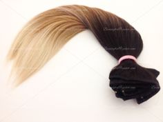 """8 pcs Ombre Trio Extensions * 18"""" Clip-In Hair Extensions // Human Hair Blend * 200 grams of hair * Many Colors Avaliable // Straight Extensions"""