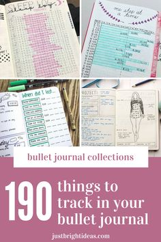 The super fun part of your bujo is the trackers and collections! Choose from our HUGE list of bullet journal ideas So many things to track in your bullet journal you might not have thought of! Bullet Journal Tracking, Bullet Journal Goals Page, Bullet Journal Hacks, Bullet Journal How To Start A, Journal Pages, Journal Ideas, What To Do When Bored, Best Planners, Planner Organization