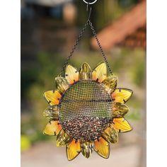 Sunflower Hanging Bird Feeder  So pretty!!