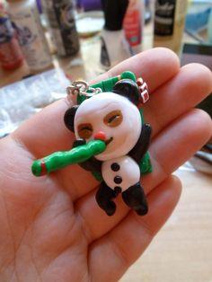 Panda Teemo Keychain by Lunatica-Reiko.deviantart.com on @deviantART