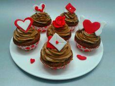 Csokis-csokikrémes cupcake valentin napra