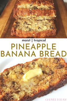 Banana Bread With Pineapple, Hawaiian Banana Bread Recipe, Moist Banana Bread, Banana Bread Recipes, Breakfast Bread Recipes, Carrot Bread Recipe Moist, Easy Banana Desserts, Desserts With Bananas, Baking With Bananas
