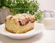 ciasto drożdżowe ze śliwkami i kruszonką Homemade Cakes, Cheesecake, Cooking Recipes, Easy, Desserts, Food, Tailgate Desserts, Deserts, Cheesecakes
