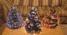 make your own (coat hanger) Christmas tree