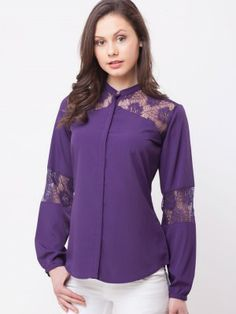 86c63eed7da Femella Lace Panel Blouse online available from koovs.com Lace Insert