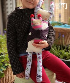 Missi Stuffed Reclaimed Fabric Doll от WhiteFoxInBlackBox на Etsy