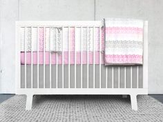 Olli & Lime logan 4 Piece Crib Bedding Set, Pink/White 4 piece crib bedding set includes: 1 crib quilt, 1 bumper, 1 fitted sheet, 1 crib skirt. Made in the UK. Machine wash cold; Do not use bleach or detergents containing bleach; Do not tumble dry, warm iron.  #Olli_&_Lime #Baby_Product