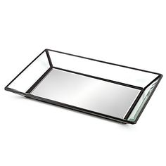 Keep your bathroom neat and tidy with the Mirrored Guest Towel Tray. Not only do they provide organization, but bring fashion into your bathroom as well. The metal frame is the perfect complement to the mirrored interior.
