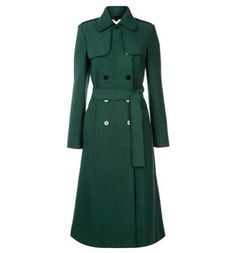 Hobbs Persephone Green Wool Trench Coat UK Size 10 in Clothes, Shoes & Accessories | eBay
