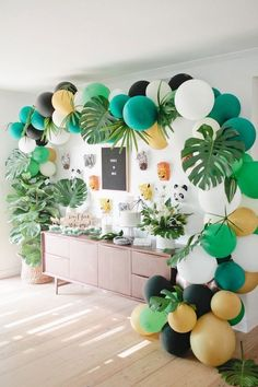 Jungle Birthday Party Kara s Party Ideas Jungle Birthday Party Kara s Party Ideas Thea Neubauer Save Images Thea Neubauer Jungle party table from a Jungle Birthday Party Birthday Party Ideas Birthday Party Birthday Party Decorations birth Safari Birthday Party, Baby Party, 1st Birthday Parties, Safari Theme Party, First Birthday Party Themes, Baby Boy 1st Birthday Party, Jungle Theme Parties, Diy Zoo Party, Cuban Party Theme
