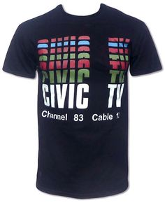 Civic TV T Shirt Videodrome | eBay