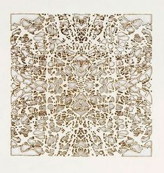 Burn drawings by Donna Ruff.