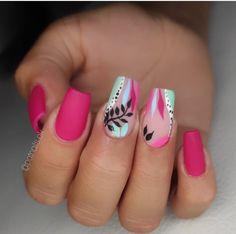 Short Nail Designs, Cool Nail Designs, Hawaiian Nail Art, Sweet 16 Decorations, Mani Pedi, Short Nails, Summer Nails, Fun Nails, Beauty Hacks