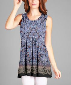 Another great find on #zulily! Lavender Abstract Tunic - Plus #zulilyfinds