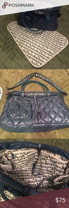 Juicy Couture Diaper Bag and Changing Pad Blue Juicy Couture Diaper Bag and Changing Pad Juicy Couture Bags Baby Bags