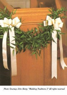 Navy burgundy wedding church pew bow by simply adornments wedding pew bows with greenery church wedding decorations junglespirit Image collections