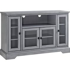 Glass Panel Door, Glass Cabinet Doors, Glass Doors, Glass Cabinets, Highboy Tv Stand, Tv Media Stands, Tv Stands, Tv Stand And Entertainment Center, Modern Apartment Decor